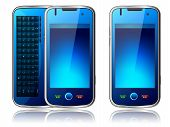 stock photo of qwerty  - illustration of Mobile phone with qwerty keypad - JPG