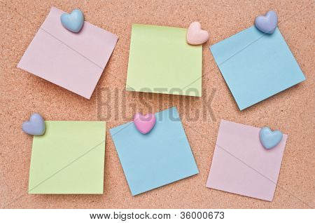 Cork Board And Paper Note.
