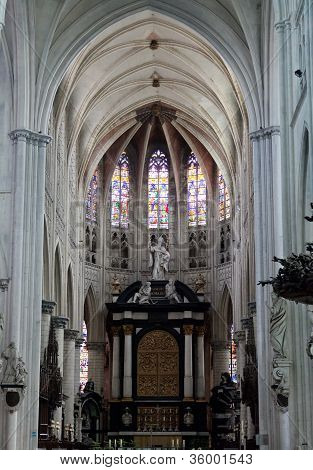 Interior of a cathedral of Sacred Rumold in Malines