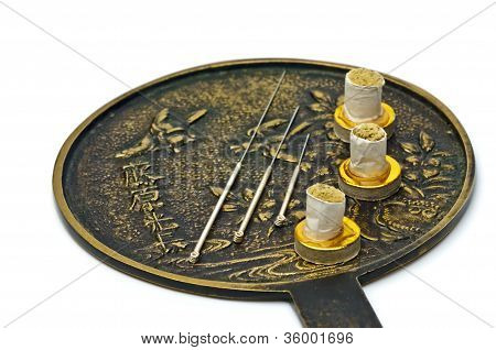 Acupuncture Needle With Moxa Cones
