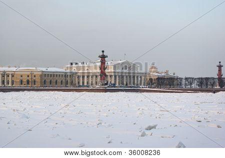 Vasilevsky Island In The Winter