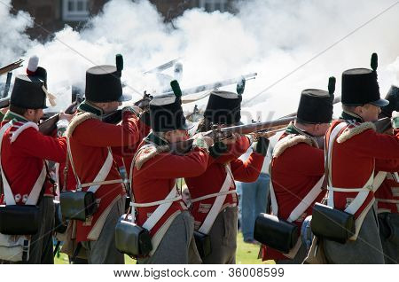 Redcoat Soldiers in action