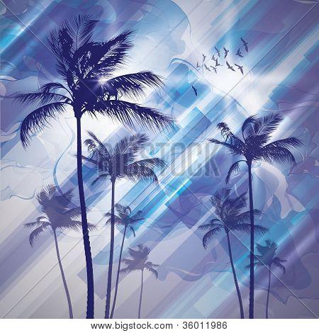 Palm tree landscape