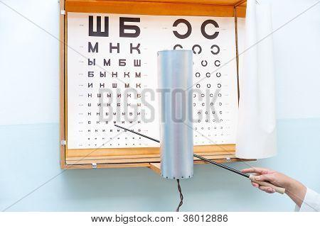 Eye Chart At Oculist