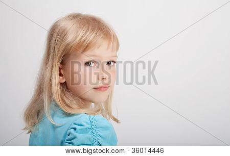 Beautiful Girl In Blue T-shirt