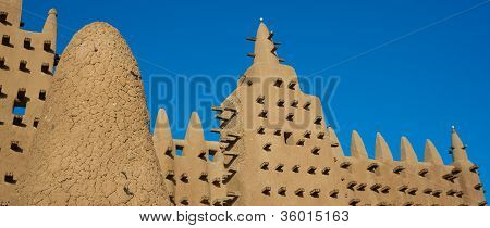 The Great Mosque Of Djenn�, Mali, Africa.