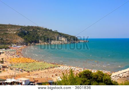 Peschici Beach In Italy