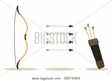 Bow Arrow And Case