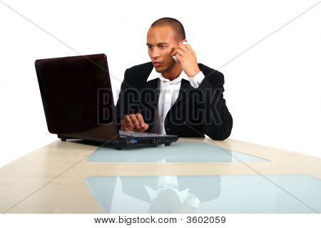 Young Business Man Working In Office