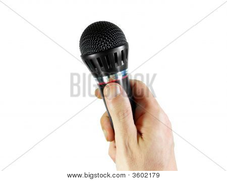 Hand And Microphone