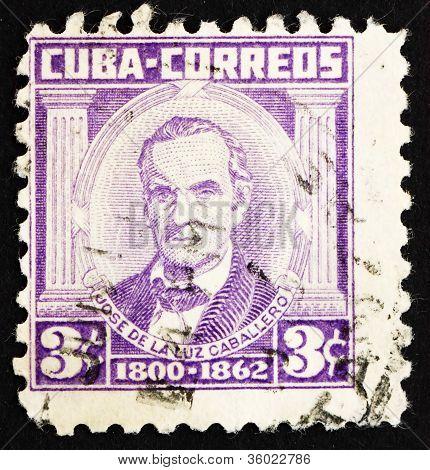 Postage stamp Cuba 1954 Jose de la Luz Caballero, Scholar