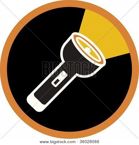An Illustration Of A Flashlight