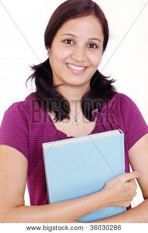 Happy Indian Female Student