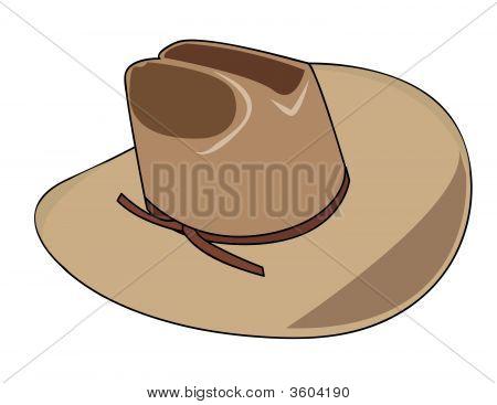 Ilustração de um chapéu de Cowboy