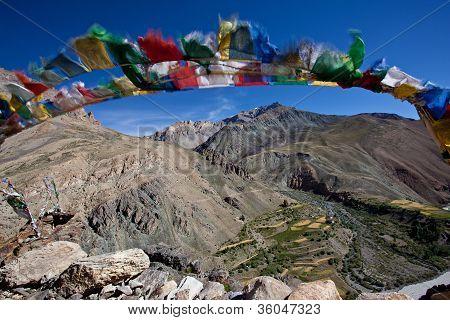 Buhhist Flag In Ladakh