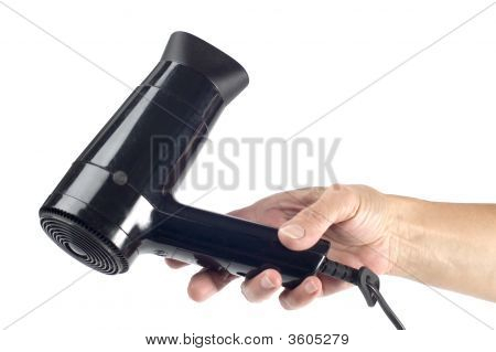 Hair-Drier In Hand
