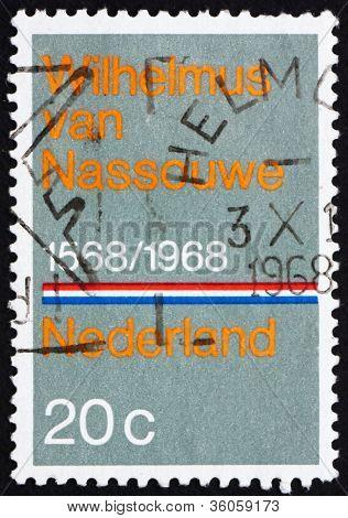 Postage stamp Netherlands 1968 National Anthem