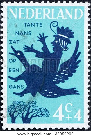 Postage stamp Netherlands 1963 Aunt Lucy, Nursery Rhymes