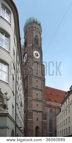 Steeple Of The Frauenkirche In Munich