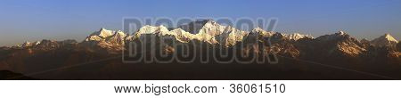 Panorama of Mount Kanchenjunga.
