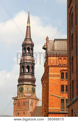Historic Buildings In The Speicherstadt In Hamburg