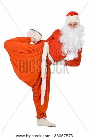 Santa Claus Is Making Yoga