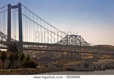 Carquinez Bridge Over San Francisco Bay