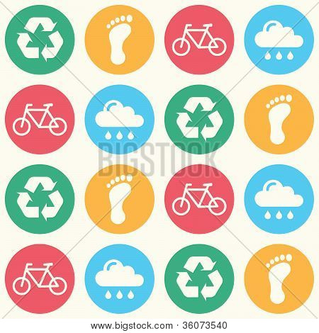 Eco green seamless background pattern