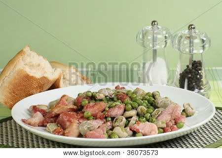 Broad Beans Peas And Bacon