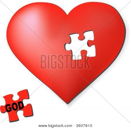 God-Shaped Heart Puzzle Piece