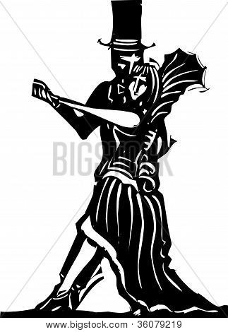 Gothic Couple Dancing