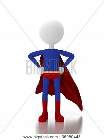 3D Person In A Super Hero Costume