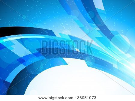 Bright blue background
