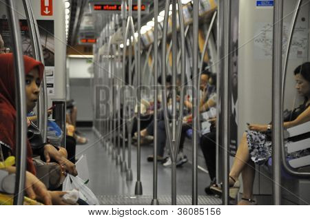 The Mass Rapid Transit (MRT) train in Singapore