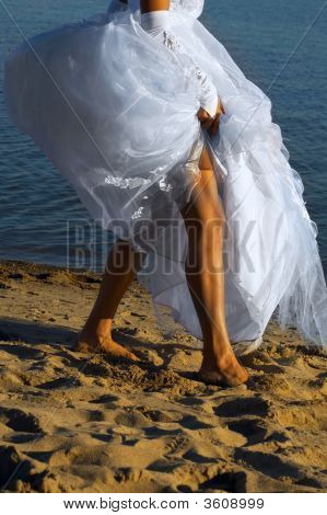 Bride On The Sand