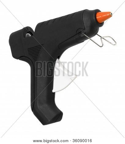 schwarze Heißklebepistole