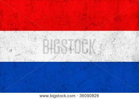 Grunge Dirty And Weathered Netherlands Flag