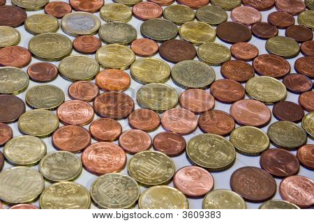Different Euro Cent Coins
