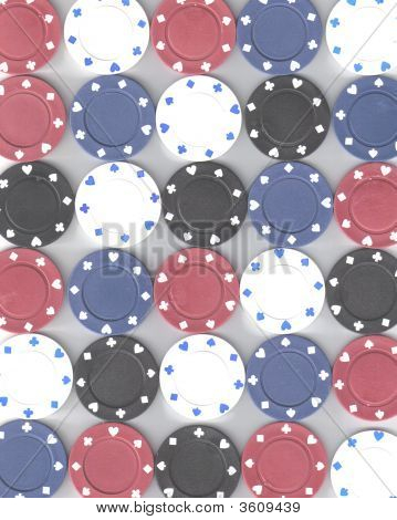 Texture Poker Chips
