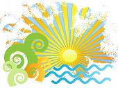 picture of sun rays  - summer vacation - JPG