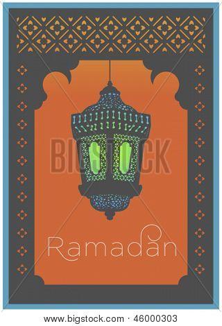 'Ramadan' wishes- a greeting card template