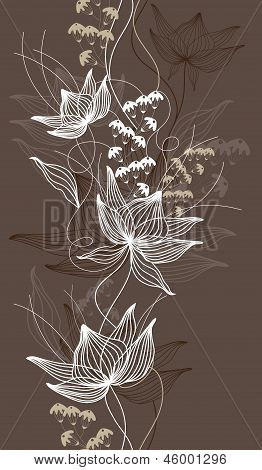 Seamless Vector Background, Texture With Flowers, Floral Pattern