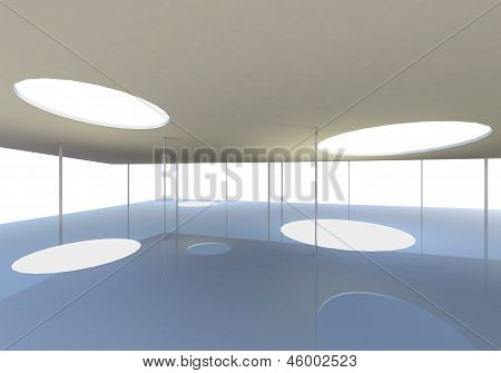 Abstract Skylight Of Conceptual Modern Building