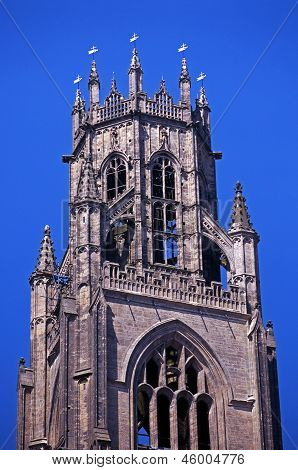 Church bell tower, Boston, England.