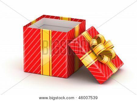 Opened white gift box