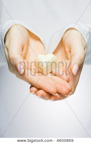 Close-up Of Hands Holding Heart