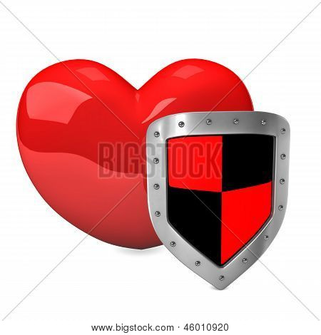 Red Heart Shield