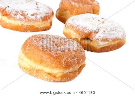 Four Sugar Topped Paczki
