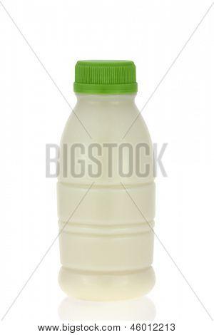 A Bottle of fresh Soy Milk (Soybean Milk, Soya) on white background