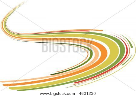 Abstract Background With The Green And Orange Bent Lines
